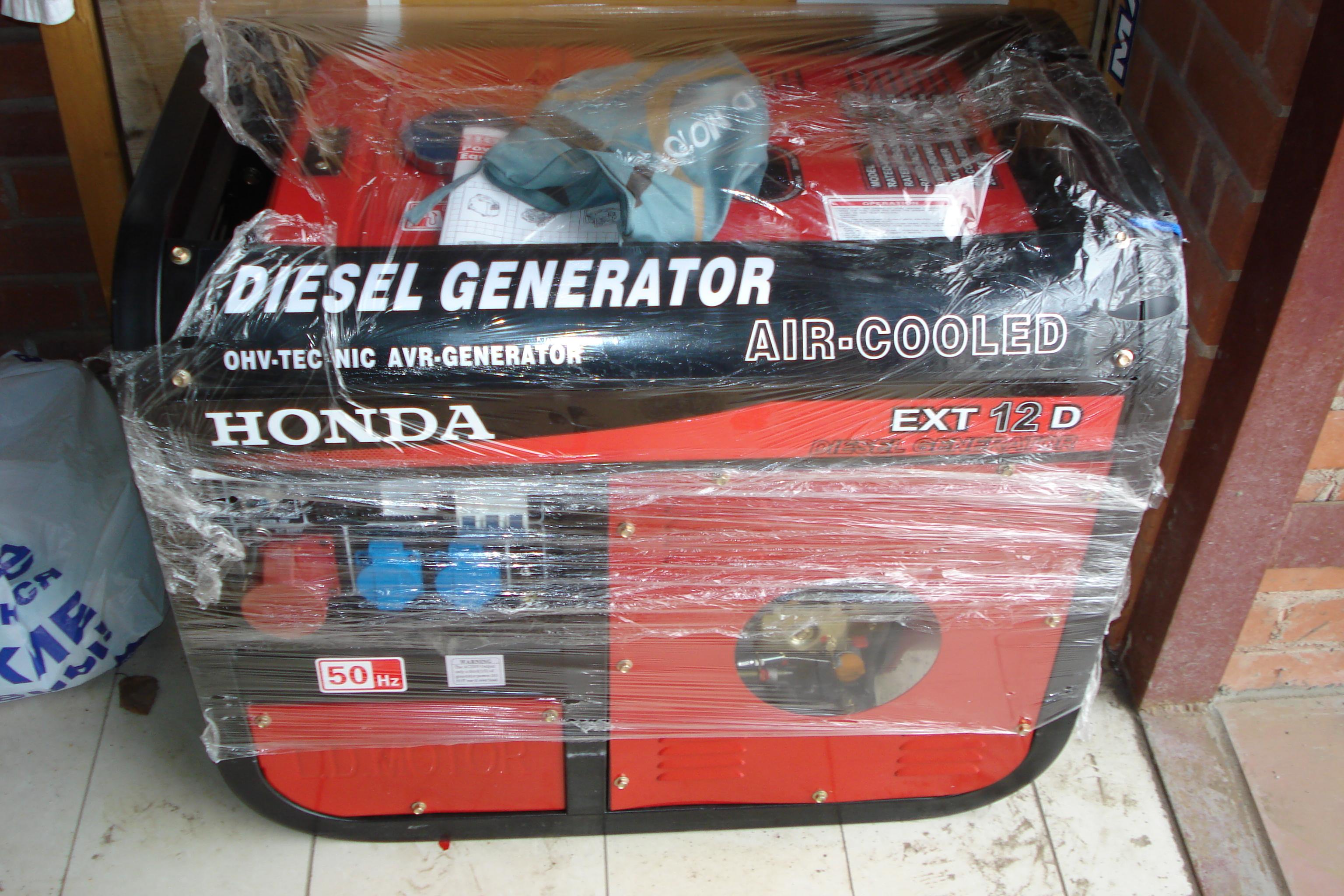 дизельный генератор honda ext 12d
